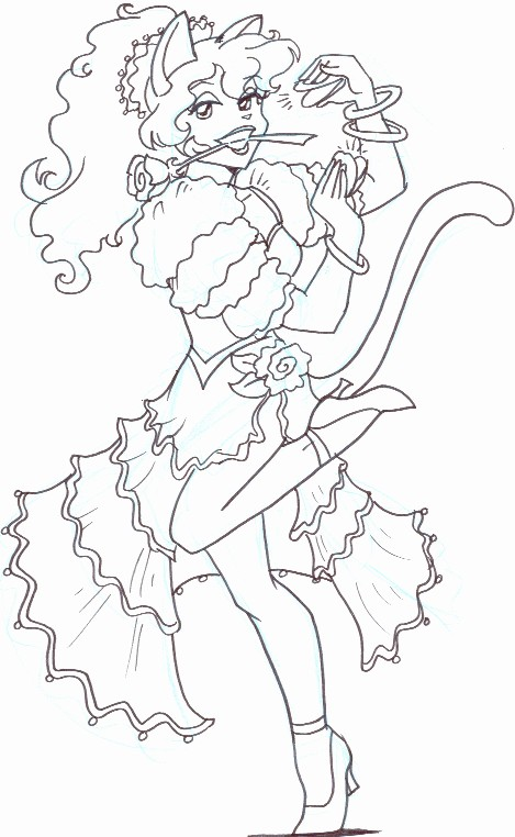 kitty coloring book - Sexy Coloring Book