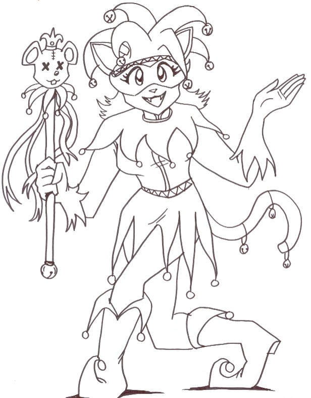jester coloring pages - photo#7